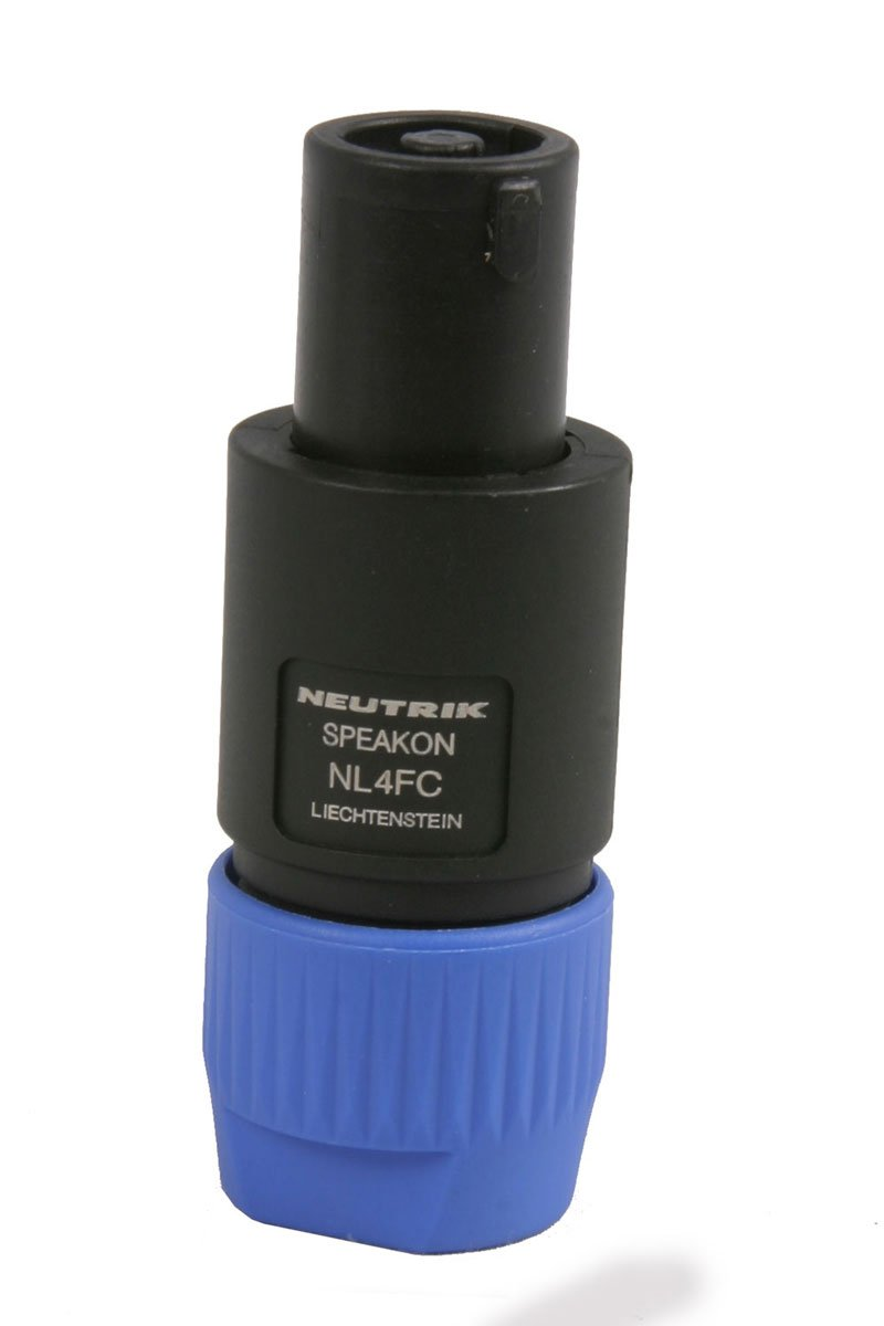 2x Speakon NL4FC Blau 4 Pin Stecker kompatibel Audio Lautsprecher Kabelansch KQ