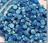 250g Vintage Cire D'étanchéité Tablette Pilule Perles Enveloppe Cire Sceau Bâtons pour Enveloppe De Mariage Cire Sceau Ancienne Cire D'étanchéité 800 pcs, Bleu ciel