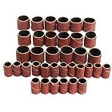 LHQ-HQ Herramienta abrasiva, 100 Piezas Herramientas 60/120/320 Grit Cilindro de Lijado Fit Kit FOR Dremel Rotary con 1/2 1/4 Pulgadas de Lija Mandriles