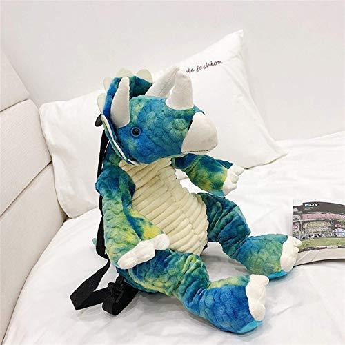 Oelpan Animales de peluche de felpa Mochila Bolsa Juguetes, dinosaurio creativo 3D Mochila de dibujos animados lindo del Artificial animal de la felpa del morral dinosaurios bolsa de regalos de los ni