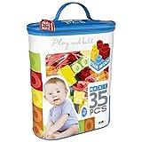 ColorBaby - Construcciones para niños juego construcción bolsa 35 piezas maxi color block (49276)