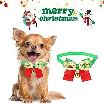 QKURT Noel Noeud Papillon Noeud Collier Père Noël Chapeau Echarpe Costume pour Chiens Chien Chats, Costumes De Noel pour Animaux De Fete Déguisement