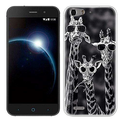 Easbuy Handy Hülle Soft Silikon Hülle Etui Tasche für ZTE Blade V6 D6 X7 Smartphone Cover Handytasche Handyhülle Schutzhülle