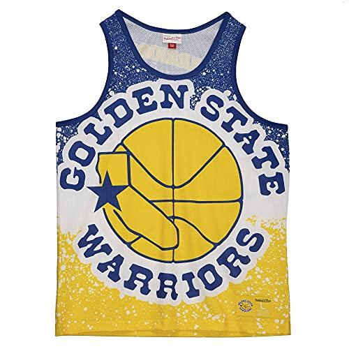 Mitchell & Ness NBA Jumbotron Sublimated Tank Golden State Warriors amarillo XL
