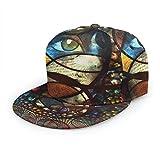 Baseballkappe Psychedelic Oriental Ethnic Motiv Augen Baseball Caps Trucker Hut Sommer Sonne Sport Outdoor Snapback Hats Schwarz
