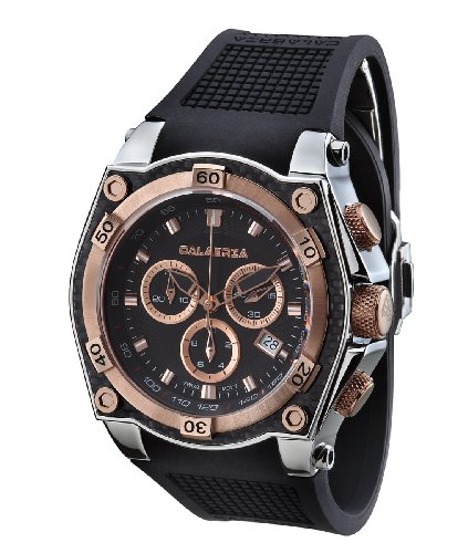 CALABRIA – INCANTO – Rose Gold Two Tone Chronograph Men's Watch with Carbon Fiber Bezel