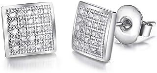 الأقراط راس مربعة الشكل لا تسبب الحساسية من الألماس 316L من الفولاذ المقاوم للصدأ والنيكل هدية مجوهرات مجانية للأذنين الحس...