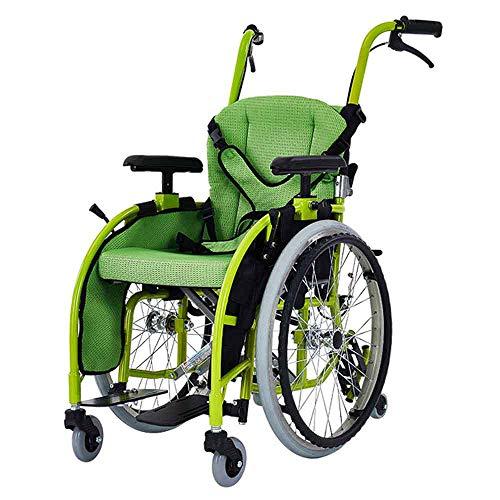 Kinderrollstuhl, Zusammenklappbarer Leichter Tragbarer Kleiner Behinderter, Trolley-roller, Kinderhandrollstuhl Zusammenklappbarer Rollstuhlwagen Kleine, Tragbare, Behindertengerechte Laufkatze