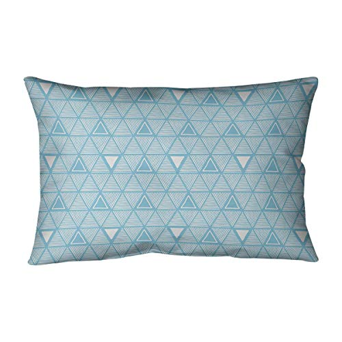 Read About ArtVerse Patricia Geoffrey Classic Hand Drawn Triangles Pillow (w/Removable Insert) - Cot...