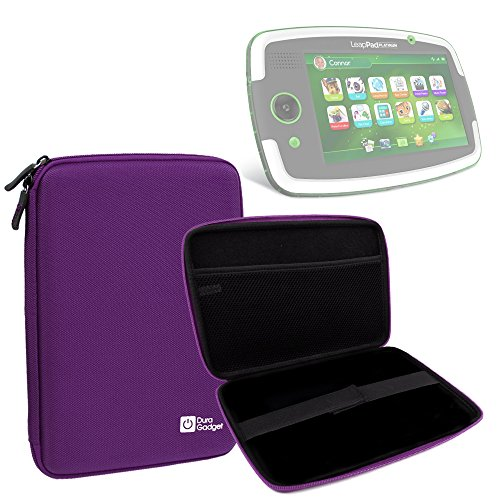 DURAGADGET Purple Tough Hard Case for Leapfrog LeapPad Platinum/LeapPad Ultra/LeapPad Ultra XDI/LeapPad GLO with Soft Inner Lining & Netted Pocket
