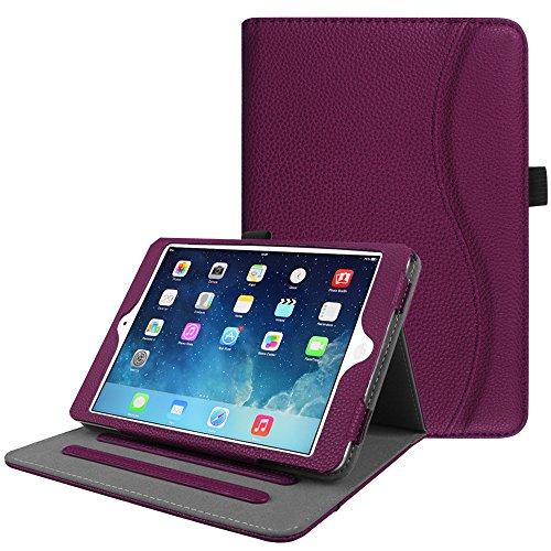 Fintie Case for iPad Mini/Mini 2 / Mini 3 [Corner Protection] - [Multi-Angle Viewing] Folio Smart Stand Protective Cover with Pocket, Auto Sleep/Wake for iPad Mini 1 / Mini 2 / Mini 3, Purple