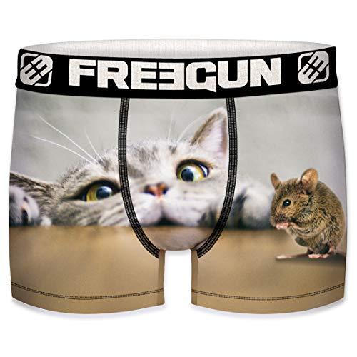 Freegun Herren Boxershorts Katze Maus Gr. S, mehrfarbig