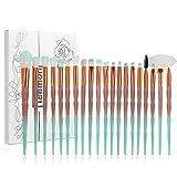 Tenmon 20Pcs Unicorn Makeup Brush Set Professional Face Eye Shadow Eyeliner Foundation Blush Lip Makeup Brushes Powder Liquid Cream Cosmetic Brush