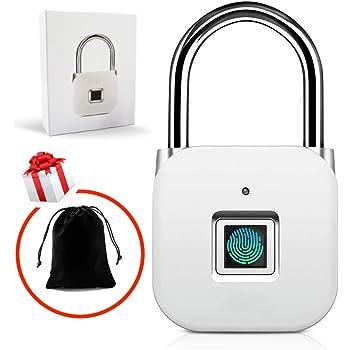Fingerprint Padlock, Smart Keyless Security Locker Lock Fingerprint Lock Gym Lock IP65 Waterproof Anti-Theft USB Rechargeable Suitable for School Locker for Gym, Door, Cabinet, Suitcase, Backpack