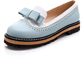 SHANLEE Summer Bow Low Heel Single Shoes Spring Hole Thick Low to Help Women's Shoes