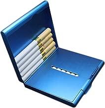 XMSM Cigarette Case, 20 Sticks Of Portable Metal Thin Double Open Cigarette Case, Stainless Steel Cigarette Holder, Best Gift (Color : Blue)