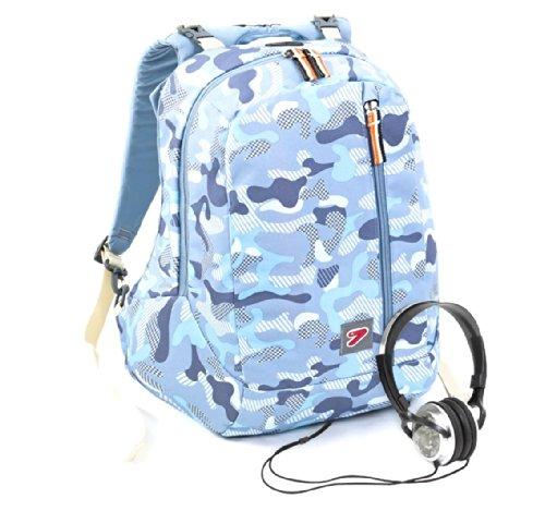 seven 201001435 sac a dos, double-face avec un casque camouflage sept