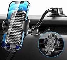 VANMASS Car Phone Holder, [2021 Newest Shockproof 4.0] Universal Car Phone Mount [Patent & Safety Certs] Long Arm Deep &...