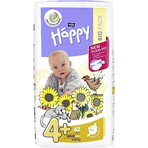 Bella Baby Happy Windeln Maxi Plus Gr. 4+ 62 Stck. (9-20 Kg)
