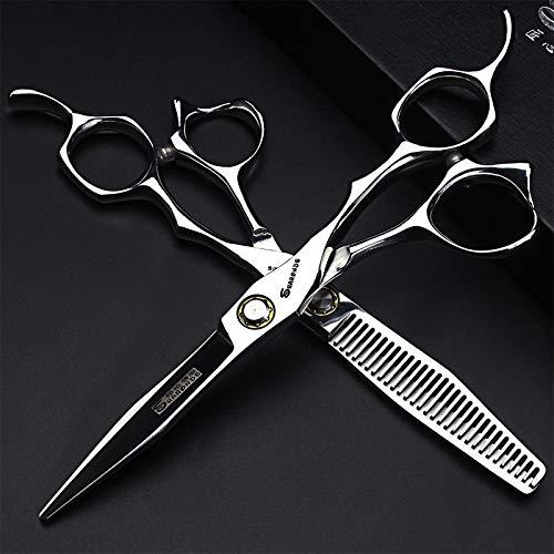 6-Zoll-Haarschere Red Gem Friseurschere und Effilierschere Set Japan 440 C Stahl Salon Schere Modellierwerkzeug,F