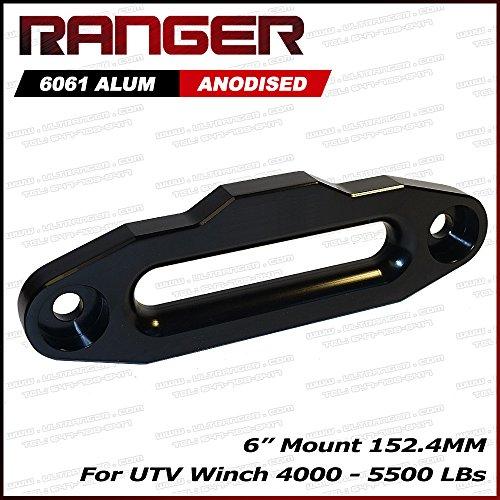 Ranger UTV Side by Side Aluminum Hawse Fairlead for 4000-5500 LBs UTV Winch 6