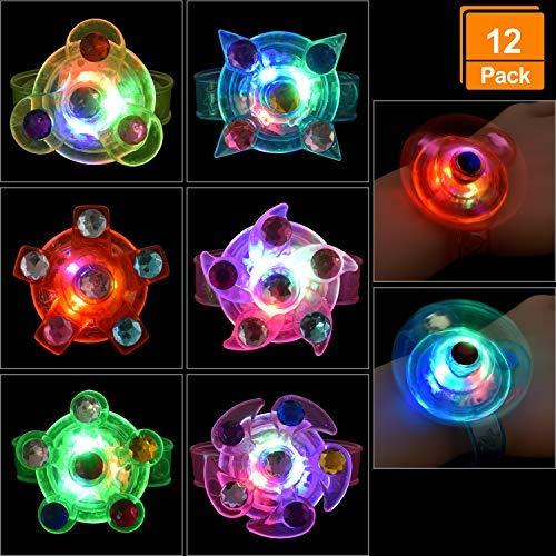 12 pulseras LED | Objetos de cumpleaños, regalos para niños, pulsera de luz flash para fiestas de cumpleaños infantiles
