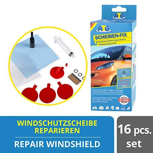 ATG Scheiben-FIX–Scheiben-Reparaturset – Autoscheibe-Windschutzscheibe-Steinschlag-Reparatur-Set 17 tlg.