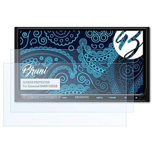 Bruni Schutzfolie kompatibel mit Kenwood DNN9150DAB Folie, glasklare Displayschutzfolie (2X)