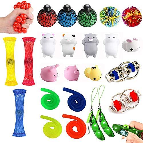 MonQi 24 Pieza Juguetes antiestrés para niños, Adulto, Autismo, TDAH, OCD - Fidget Toy...
