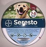 1 Collare Seresto di Bayer per cani oltre 8 Kg antipulci e zecche 70 cm