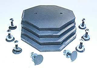 Auto Lift Parts - Replacement Pads for Challenger Lift - 6-Ply 8-Sided ULTRA HEAVY DUTY Rubber Arm Pads - Set Of 4