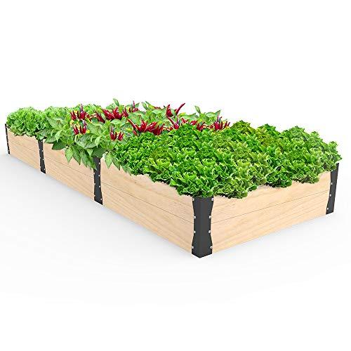 Raised Garden Bed Planter,- Wooden Elevated Planter Garden Box for...