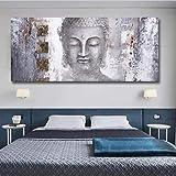 WHMQJQ Gott Buddha Wandkunst Leinwand druckt Moderne Buddha