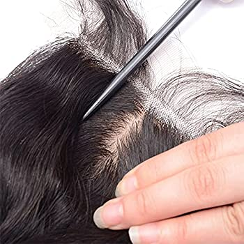 Straight Human Hair Closure 4 x4  Silk Base Lace Top Closure Piece with Hidden Knots Free Part Brazilian Remy Hair Extension