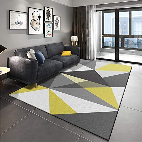 NF Alfombra grande, diseño geométrico 3D nórdico, rectangular, alfombra de salón, dormitorio, alfombra antideslizante, alfombra pequeña, 80 x 120 cm