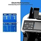 Banknotenzähler für Gemischte Geldscheine mit Wertzählung MUNBYN UV MG IR UV MW 3D SN 2 CIS Geldzählmaschine Banknotenzählmaschine für Euro-Banknoten - 4