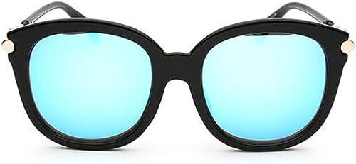 Lunettes de soleil Couleurés, MesLes dames longues UV prougeection lunettes de soleil mode, rond visage lunettes