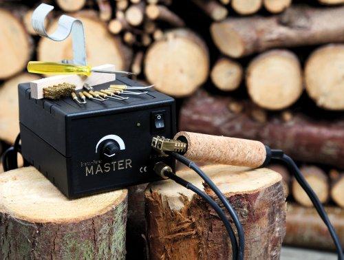 Brennstation Spezial Set für Hobby und Fortgeschrittene Brandmalerei Leistung 80 Watt, Brenntemperatur 250°C-1000°C