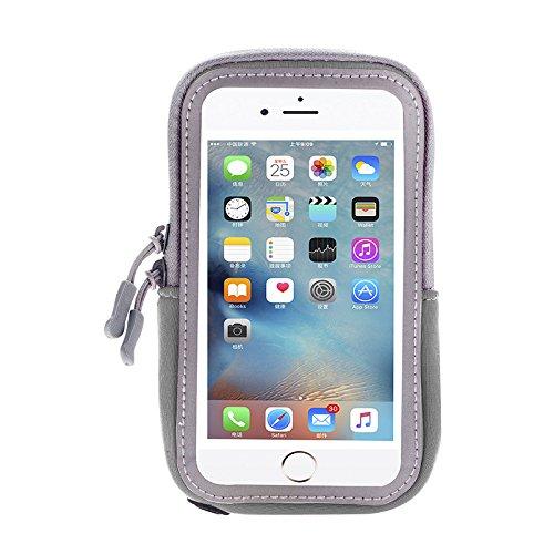 Brazalete de neopreno con cremallera para iPhone 7 Plus / Motorola Moto G4 / G5 Plus / Moto Z Play / Moto E 4G / Moto X Force / X Play / X Style / HTC Desire 10 Lifestyle / BLU VIVO 6