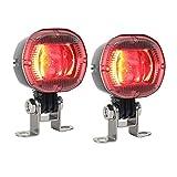 Wivarra 2PCS Luces de Seguridad de la Carretilla Elevadora AlmacéN de Zona Luz de Advertencia para Peatones Indicador de Seguridad del CamióN Foco LED Rojo