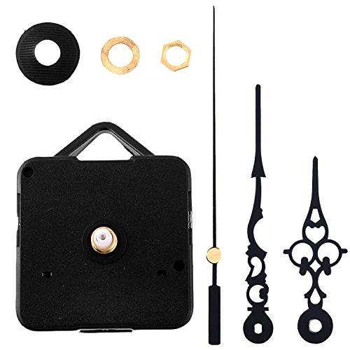 Ouinne Mecanismo de Movimiento de Reemplazo Maquinaria de DIY con Agujas de Reloj (Negro)
