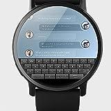 Lem x 4G Business Smart Watch GPS WiFi 1G 16GB Android 7.1 con Orologio Intelligente per Fotocamera da 8 MP per Uomini e Donne, Monsteramy. (Color : Black)
