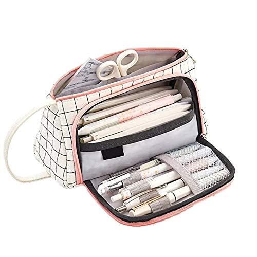Zhicaikeji Estuche Gran Capacidad Pencase School Plan Boll Supplies Pen Bag School Box Pen Fouch Papelería para Oficina (Color : White, Size : 20x9cm)