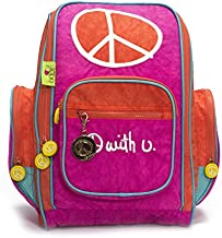Biglove Small Kids Backpack Peace, Multi-Colored, One Size