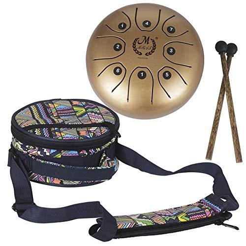 """supertop Mini Steel Percussion Instrument - ideal für Camping, Yoga, Meditation, Musiktherapie - D Akebono Pentatonic mit Free gepolsterte Reisetasche Zungentrommel 8\"""""""