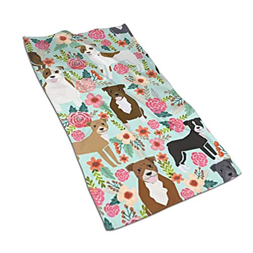 Asdfaf Pitbull Terriers Cute Dogs Kitchen Towels - Dish Cloth - Machine Washable Cotton Kitchen Dishcloths,Dish Towel & Tea Towels for Drying,Cleaning,Cooking,Baking