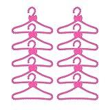 10 piezas muñecas de plástico Mini lindo juego de perchas para ropa de muñeca...