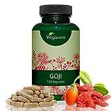 Goji Berries Vegavero | 500 mg | Antioxidante + Vitaminas y Minerales + Saciante + Vista | Luteína + Zeaxantina | 120 Cápsulas | Vegano | Sin Aditivos | Extracto de Bayas de Goji