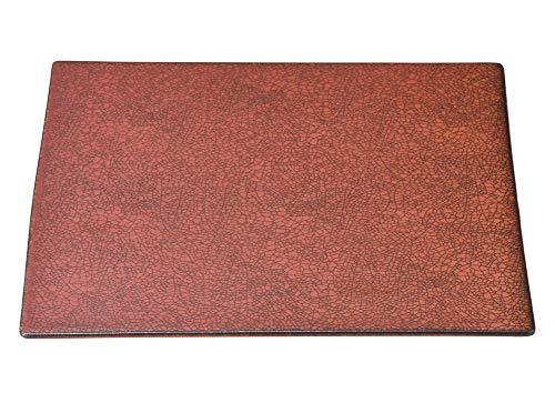 柿赤 26cm平角皿 [ 26 x 1cm ] [ 角皿 ] | 飲食店 和食 旅館 料亭 ホテル 業務用