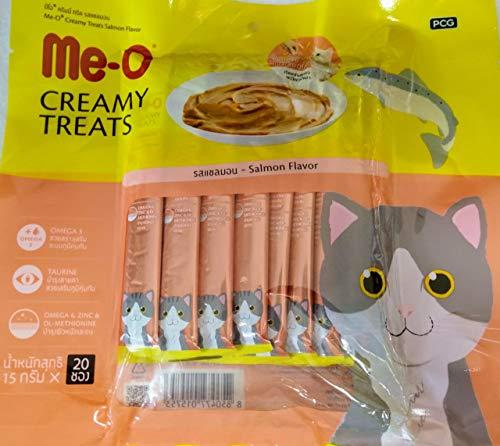 Me-O Creamy Treat Salmon Flavor -Pack of 20 Sticks